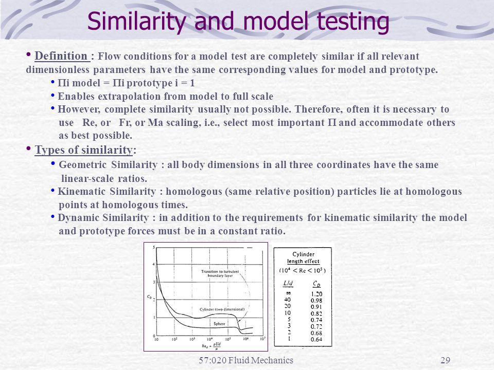 Similarity and model testing