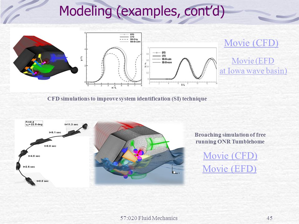 Modeling (examples, cont'd)