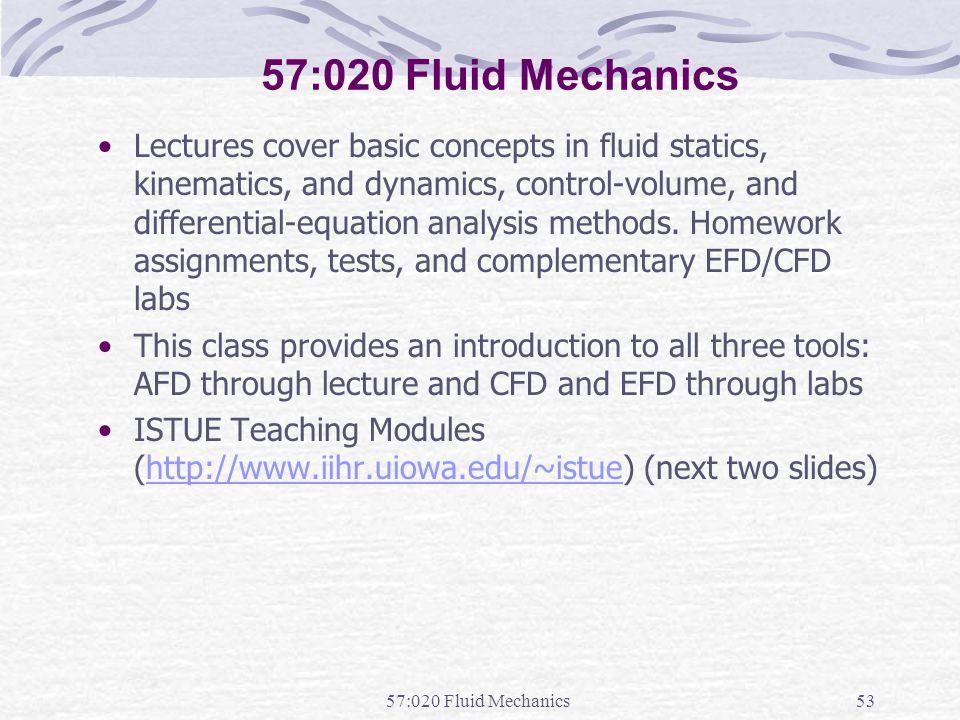 57:020 Fluid Mechanics