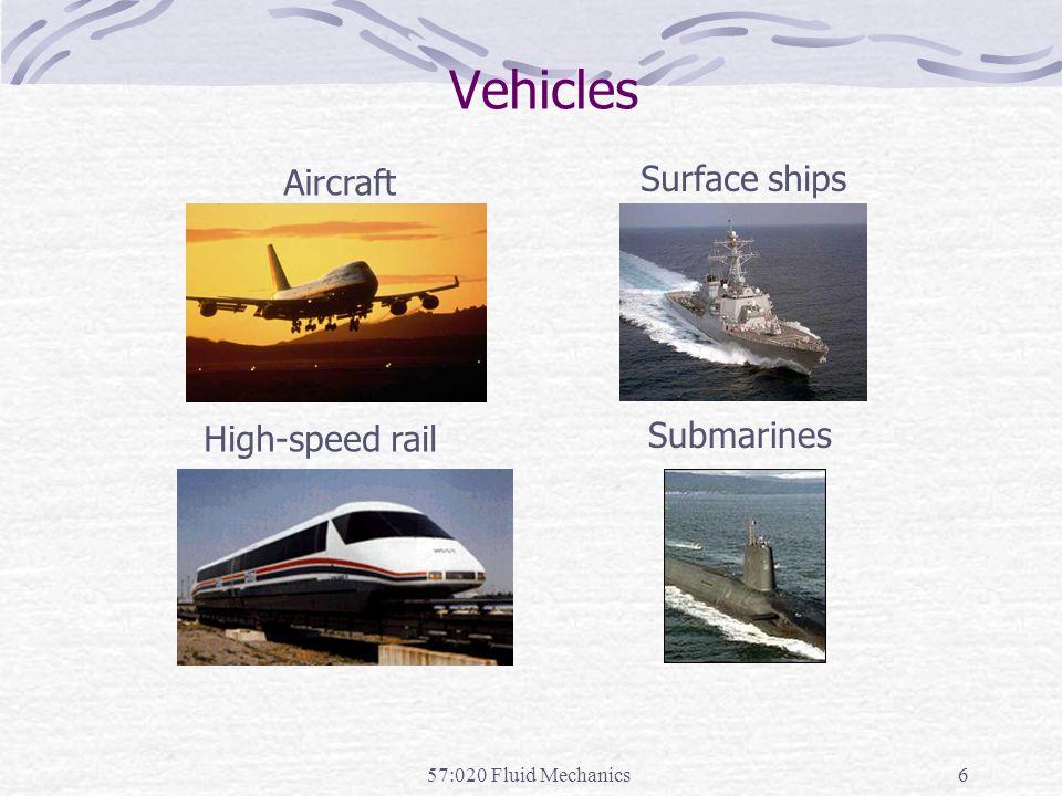 Vehicles Surface ships Aircraft Submarines High-speed rail