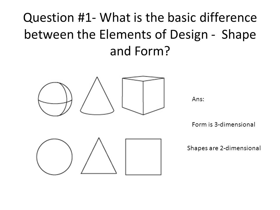 Elements Of Design Shape And Form : Studio in art pretest review given  ppt