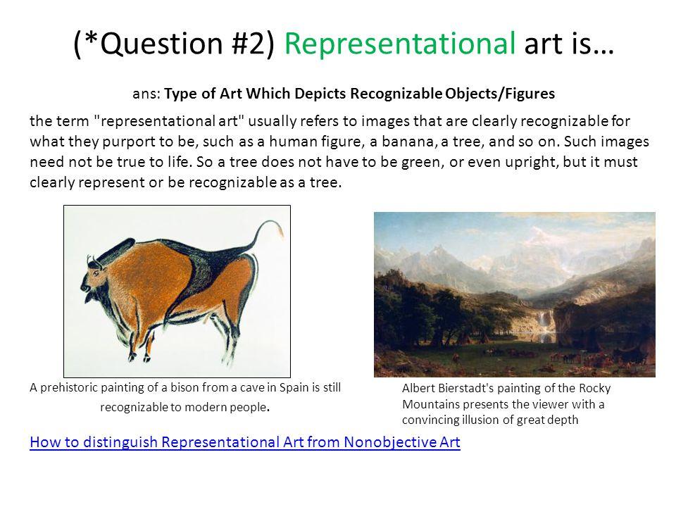 (*Question #2) Representational art is…
