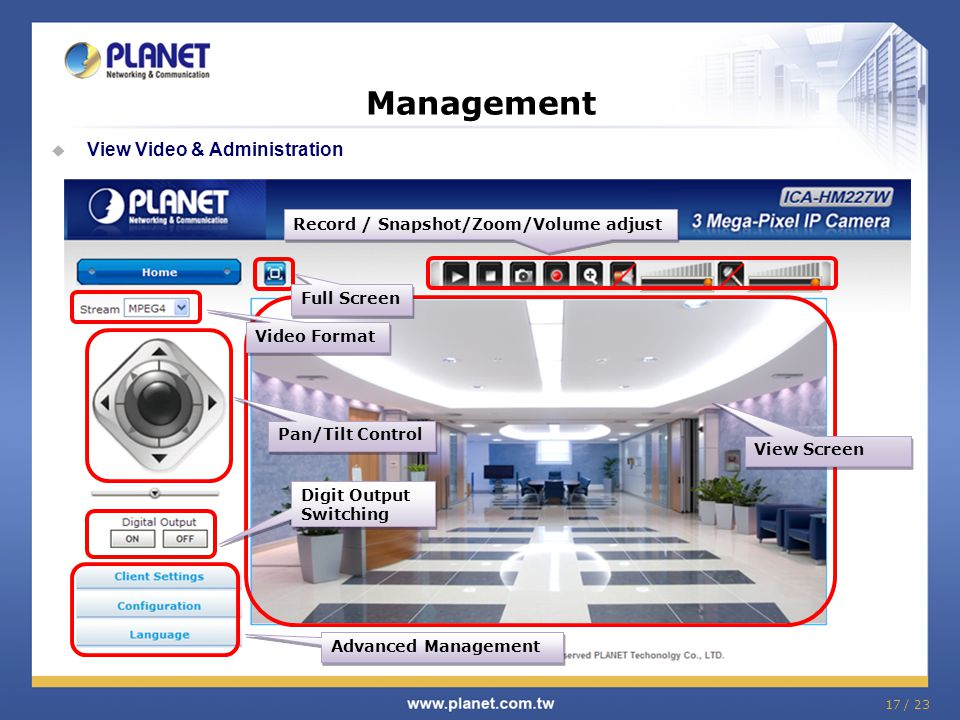 Management View Video & Administration