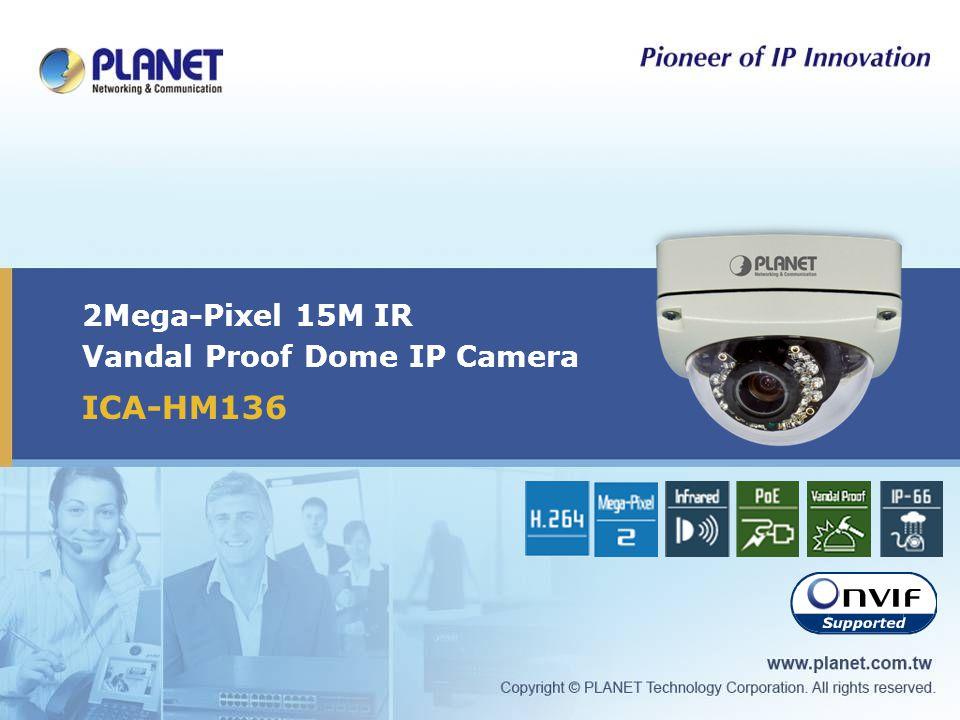 2Mega-Pixel 15M IR Vandal Proof Dome IP Camera