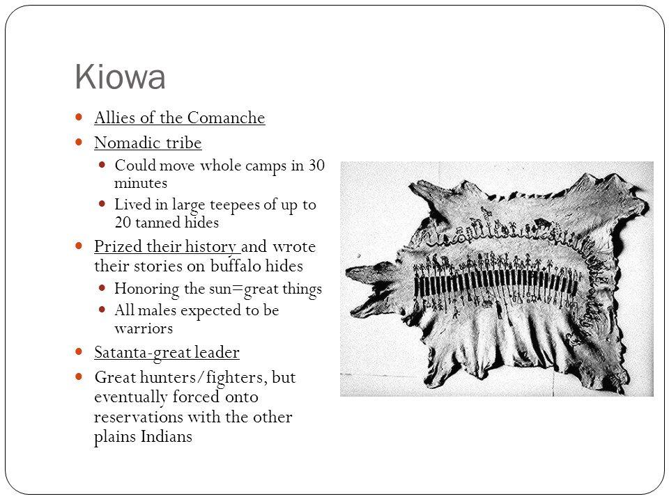 Kiowa Allies of the Comanche Nomadic tribe