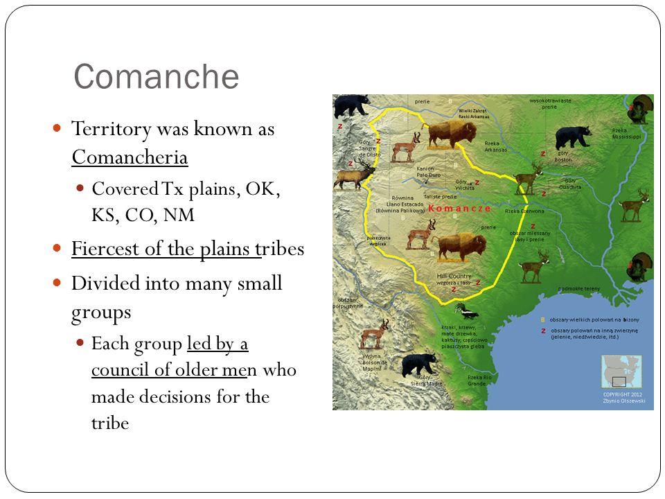 Comanche Territory was known as Comancheria