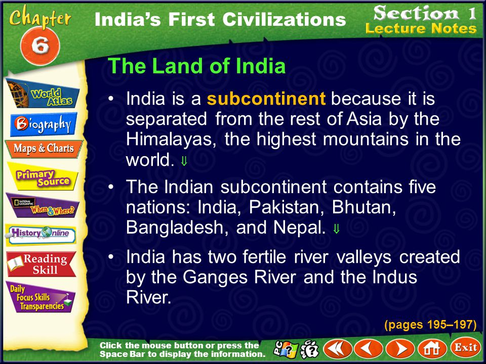 The Land of India India's First Civilizations