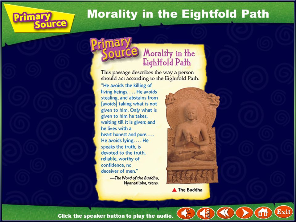 Morality in the Eightfold Path