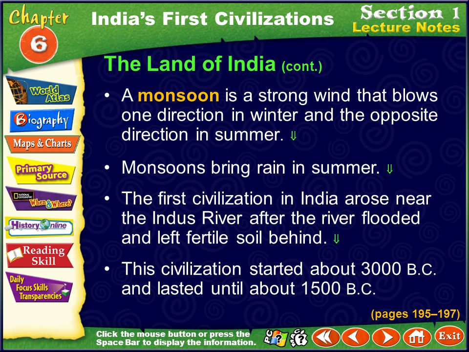 The Land of India (cont.)