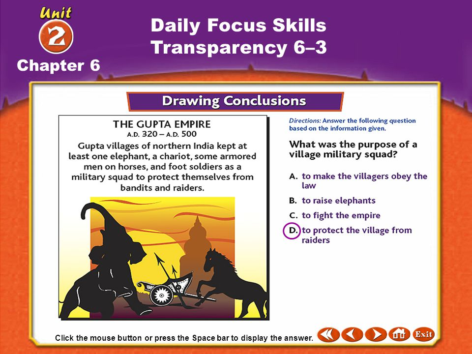 Daily Focus Skills Transparency 6–3