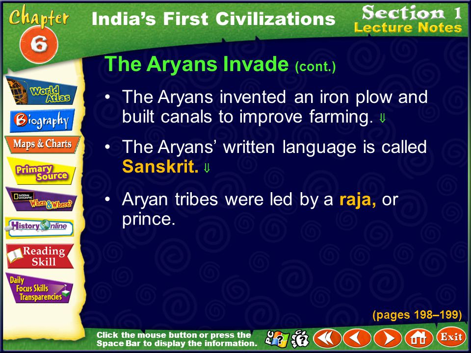 The Aryans Invade (cont.)