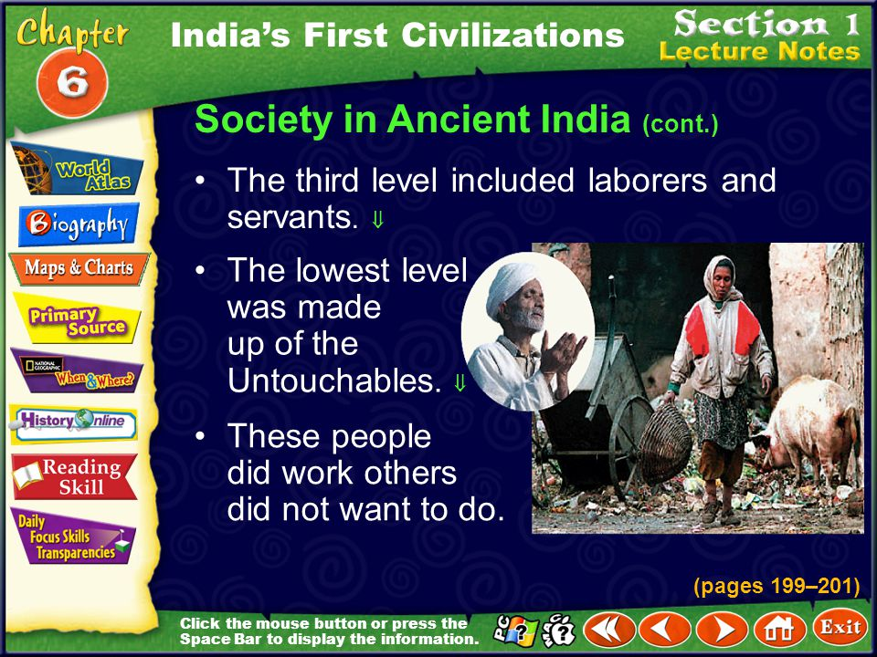 Society in Ancient India (cont.)
