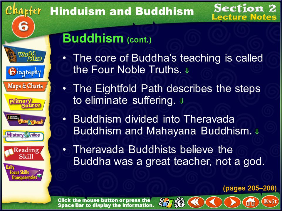 Buddhism (cont.) Hinduism and Buddhism