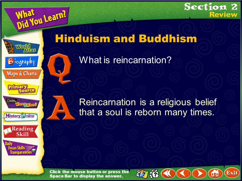 Hinduism and Buddhism What is reincarnation