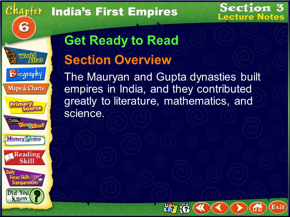 Get Ready to Read Section Overview India's First Empires