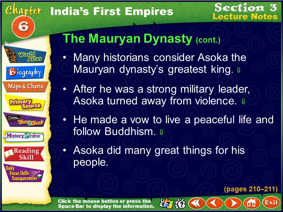 The Mauryan Dynasty (cont.)