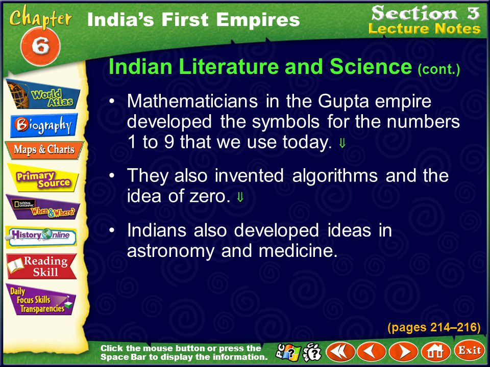 Indian Literature and Science (cont.)