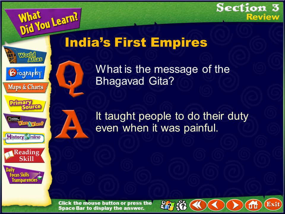 India's First Empires What is the message of the Bhagavad Gita