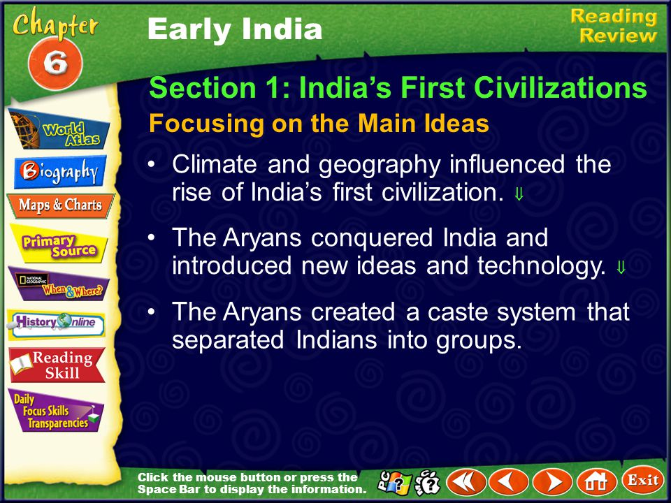 Section 1: India's First Civilizations