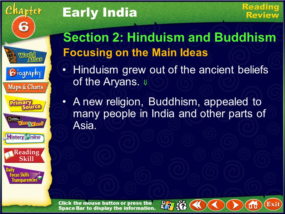 Section 2: Hinduism and Buddhism