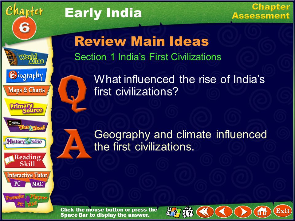 Early India Review Main Ideas