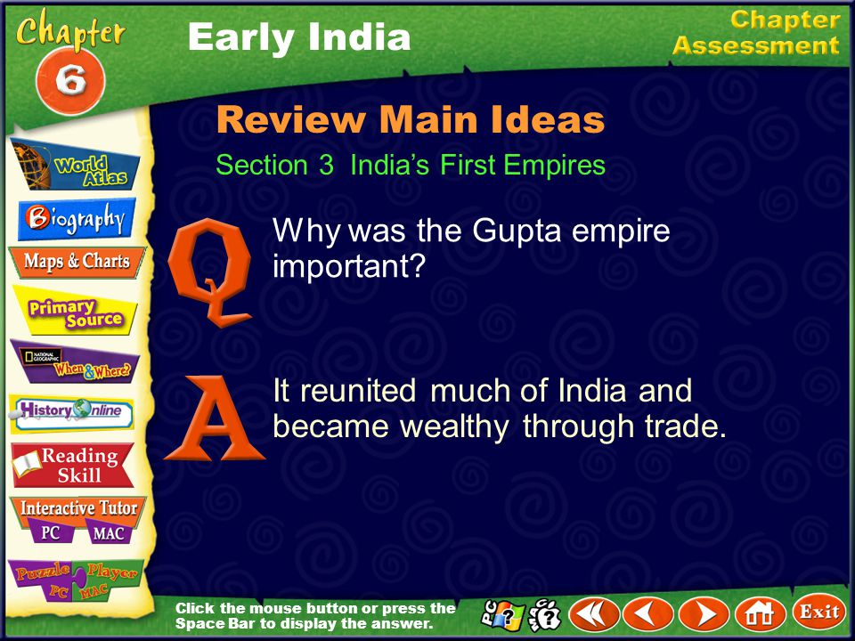 Early India Review Main Ideas Why was the Gupta empire important