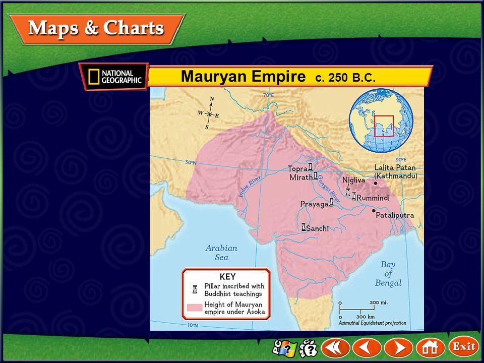 Mauryan Empire c. 250 B.C.
