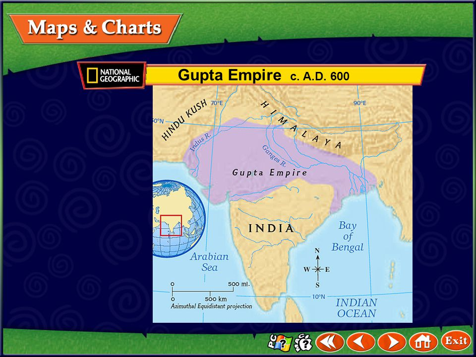 Gupta Empire c. A.D. 600