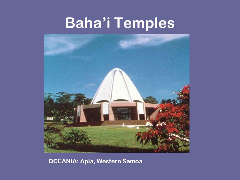 Baha'i Temples OCEANIA: Apia, Western Samoa