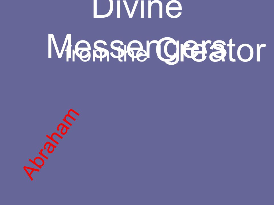 Divine Messengers from the Creator Abraham