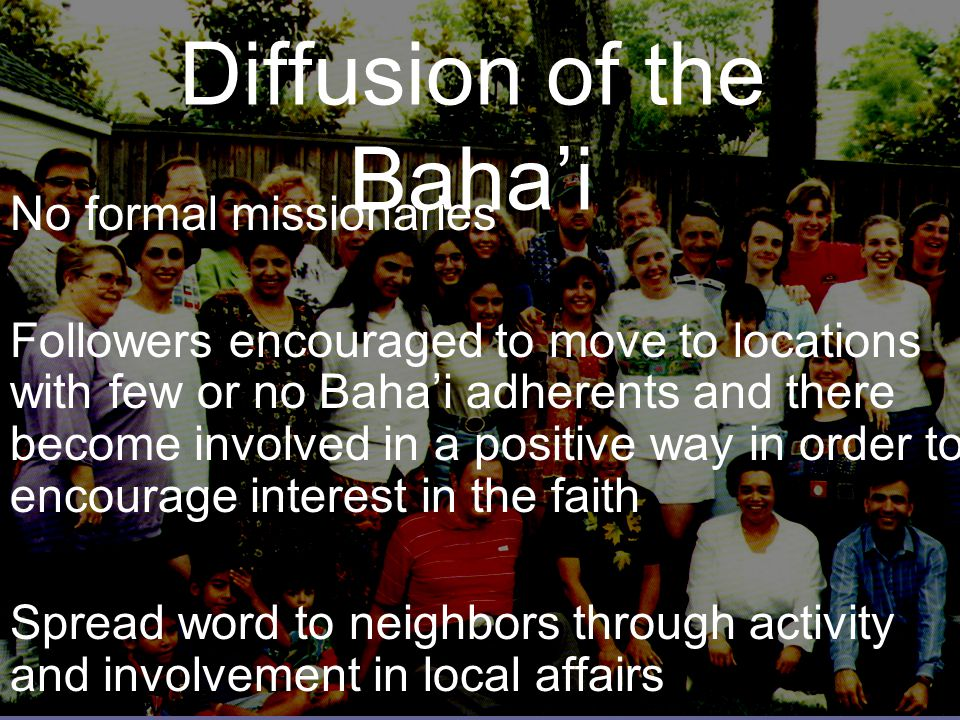 Diffusion of the Baha'i