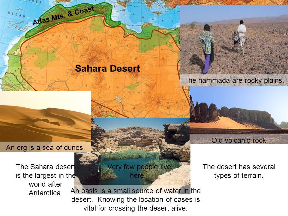 Sahara Desert Atlas Mts. & Coast The hammada are rocky plains.