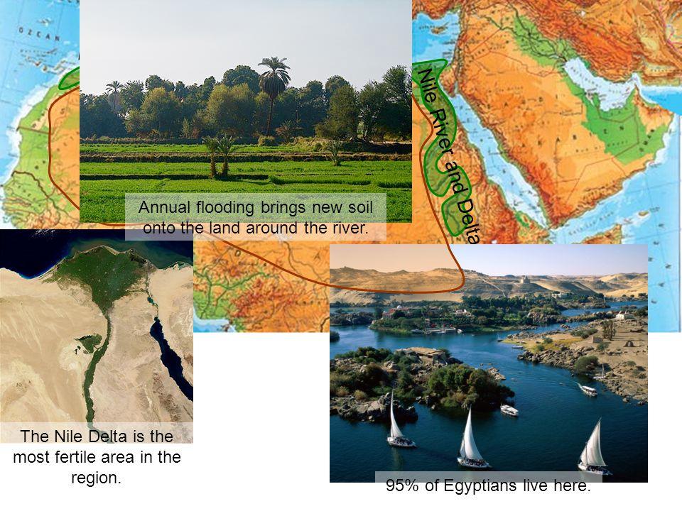 Sahara Desert Nile River and Delta Atlas Mts. & Coast