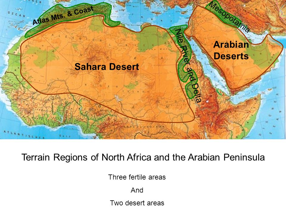 Pictures Of Arabian Desert Physical Map Africa Rock Cafe
