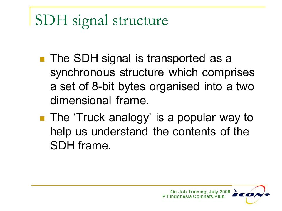 SDH signal structure