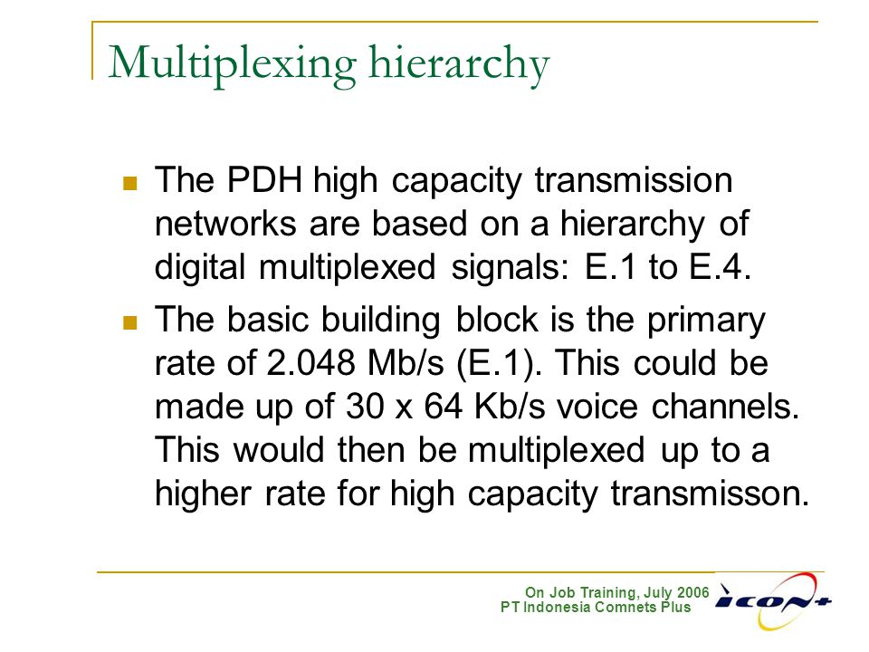 Multiplexing hierarchy