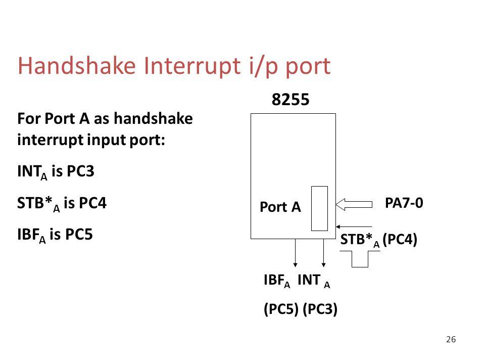 Handshake Interrupt i/p port