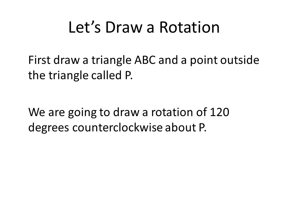 Let's Draw a Rotation