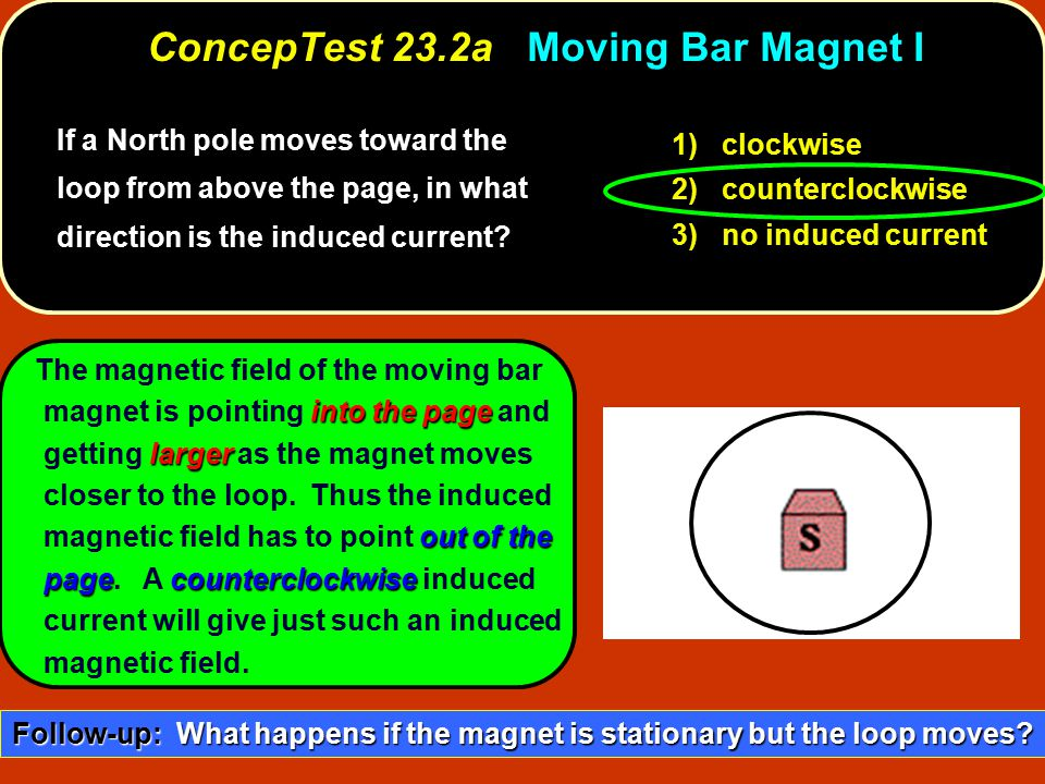 ConcepTest 23.2a Moving Bar Magnet I