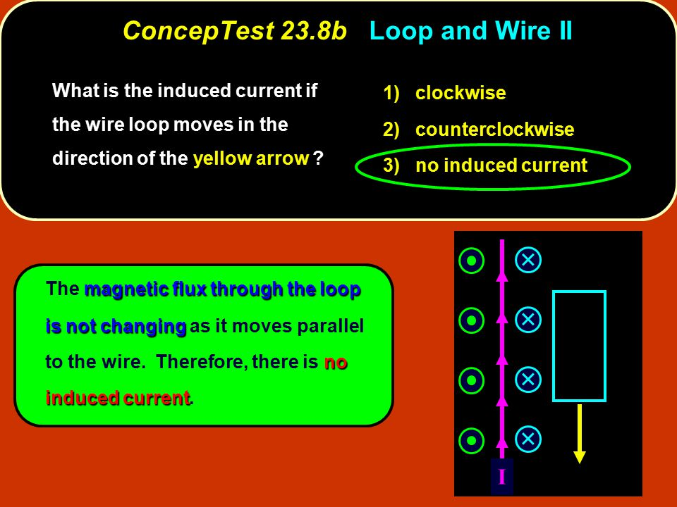 ConcepTest 23.8b Loop and Wire II