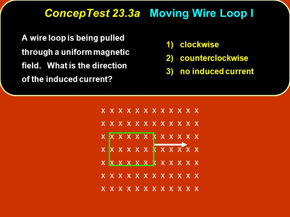 ConcepTest 23.3a Moving Wire Loop I