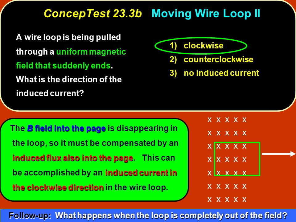 ConcepTest 23.3b Moving Wire Loop II