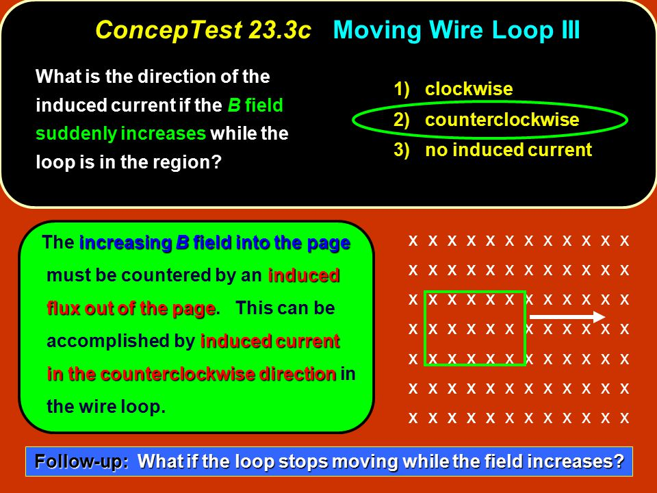 ConcepTest 23.3c Moving Wire Loop III