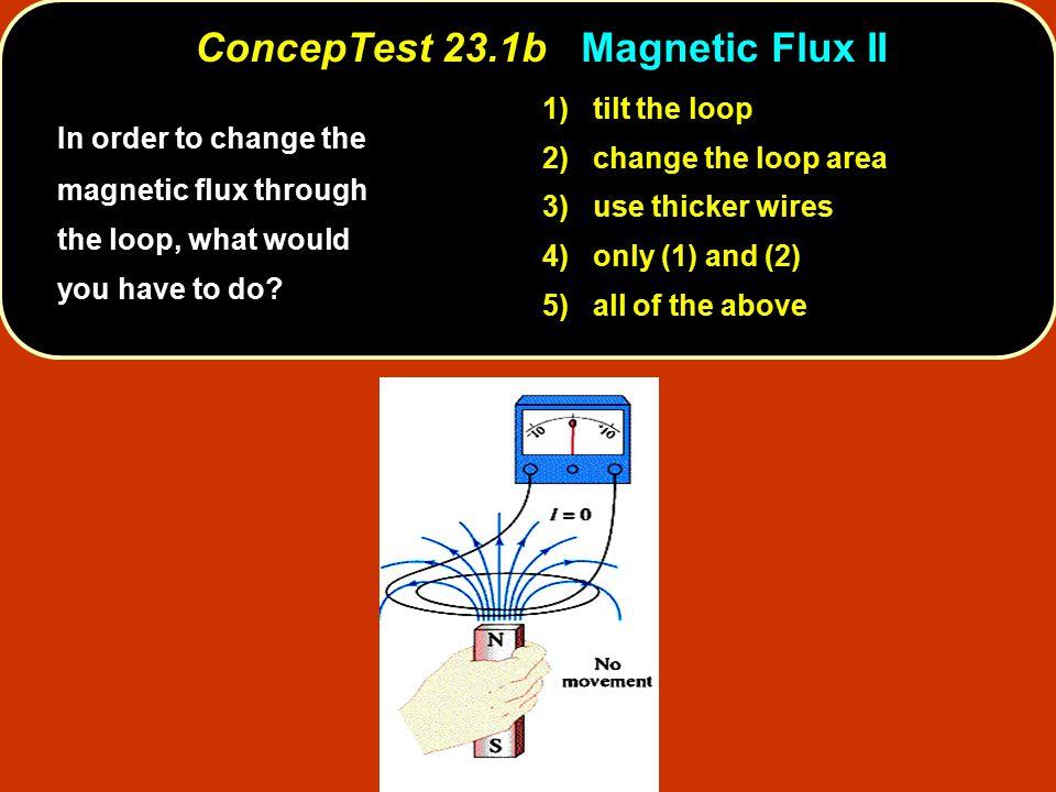 ConcepTest 23.1b Magnetic Flux II