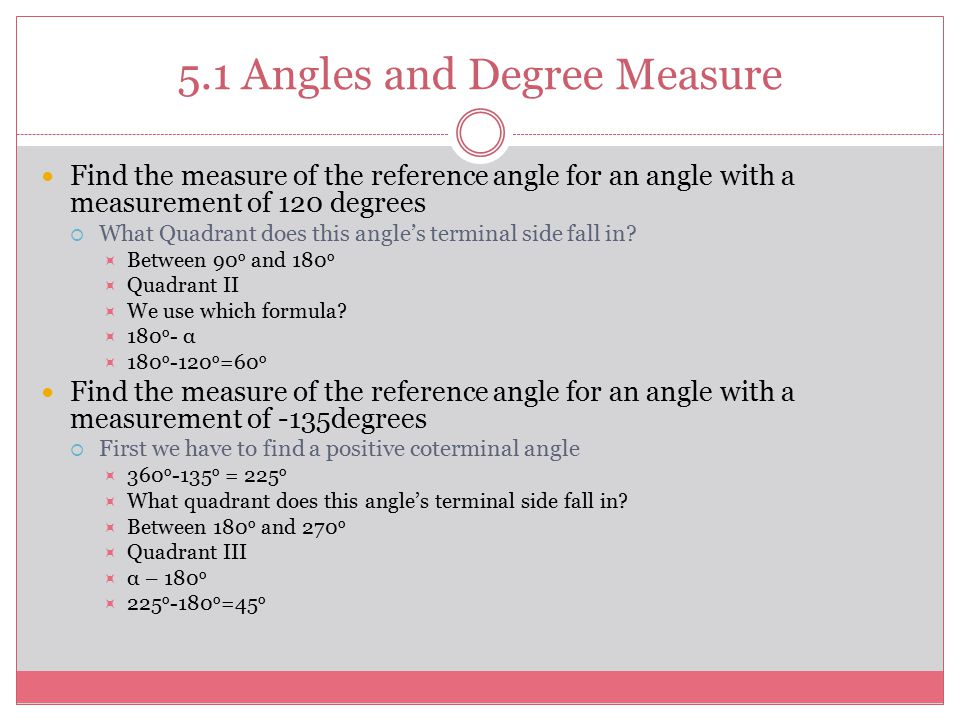 how to find the degree measure of an angle