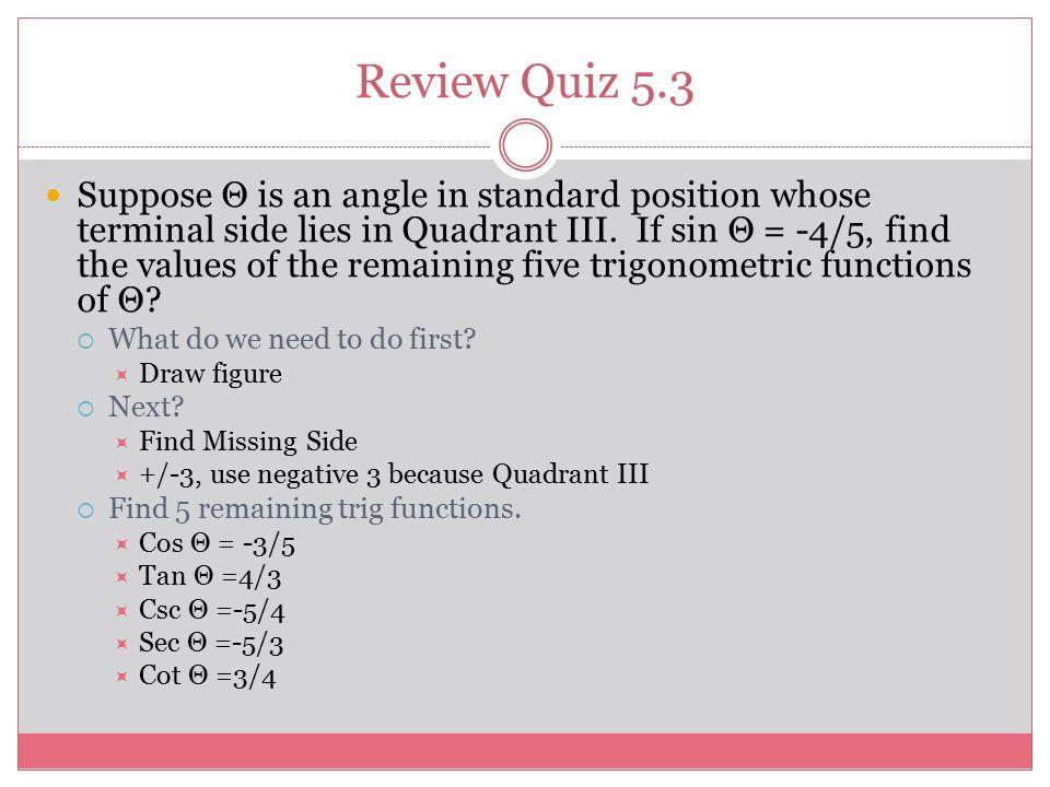 Review Quiz 5.3