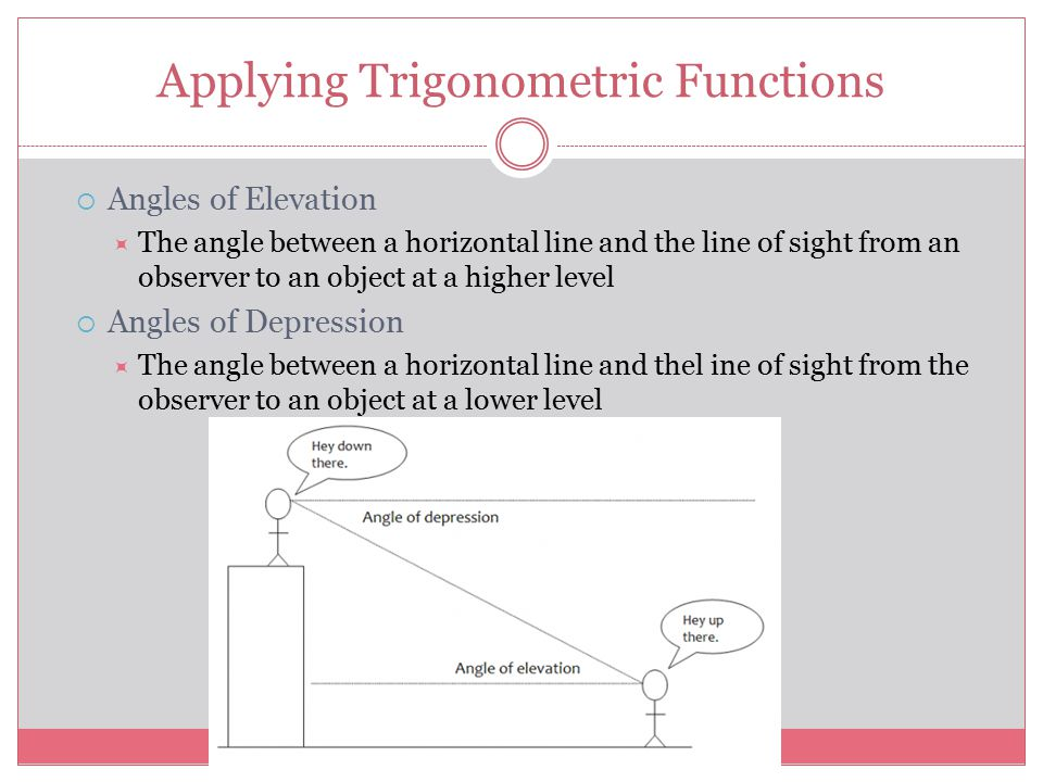Applying Trigonometric Functions