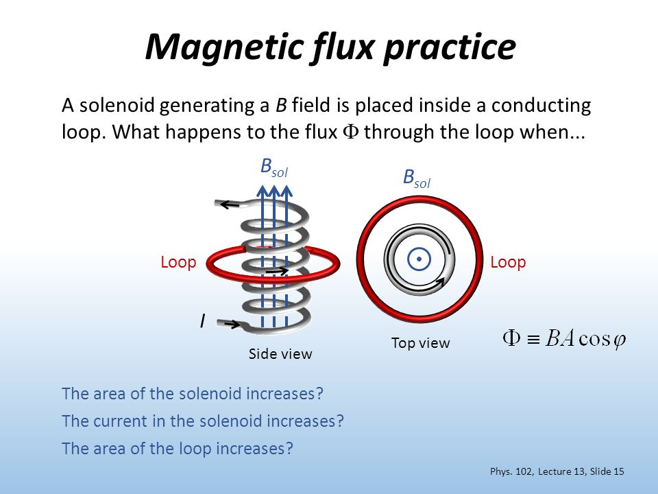 Magnetic flux practice