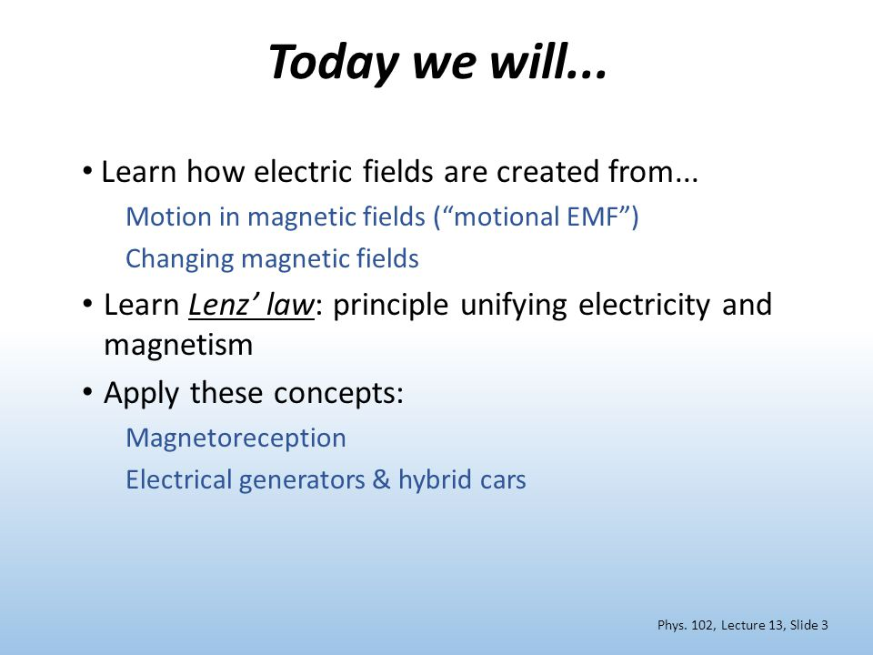 Today we will... Learn how electric fields are created from...