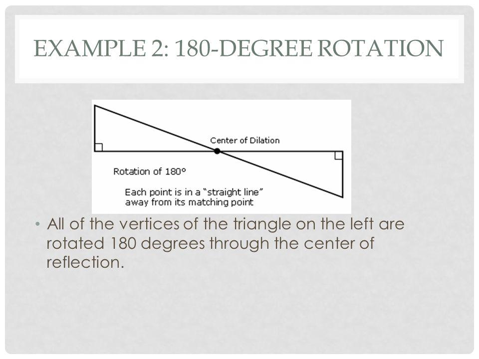 Example 2: 180-degree rotation